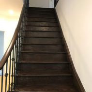 dark brown stairs renovation