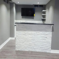 bar design in basement