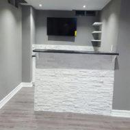bar design in basement