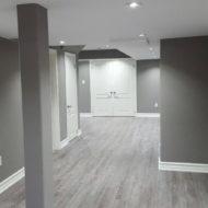 basement floor renovation and pot light installation