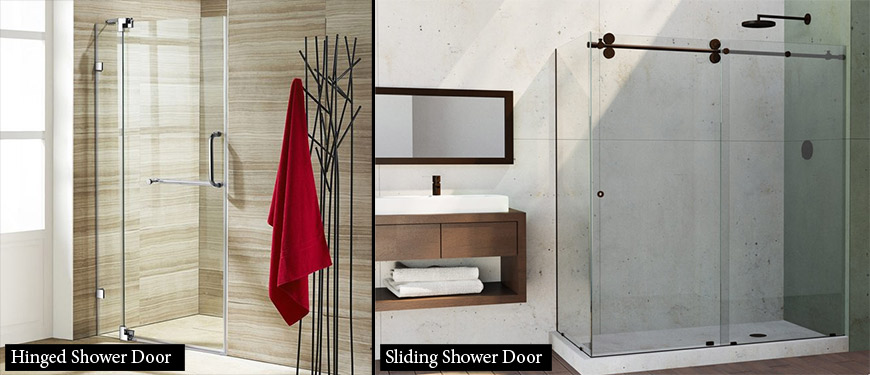 hinged shower doors vs sliding shower doors