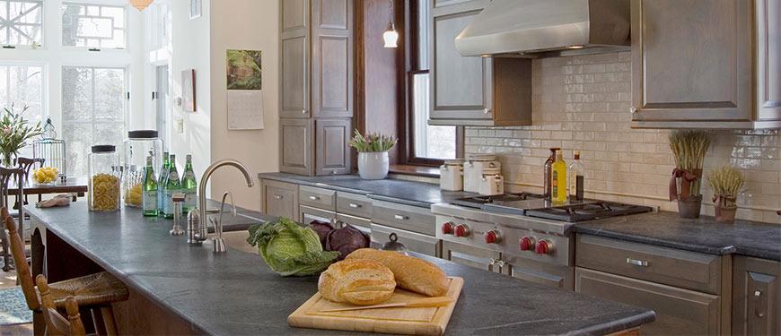 kitchen soapstone countertop